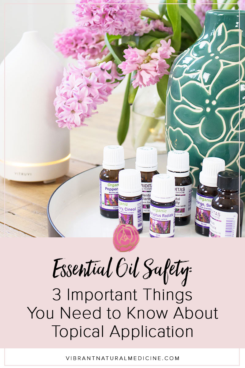 Applying essential oils to the skin